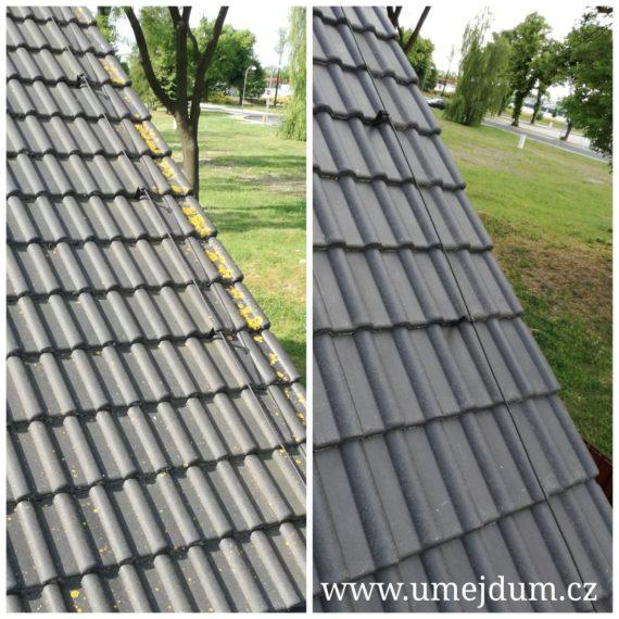 Čištění střechy rodinného domu