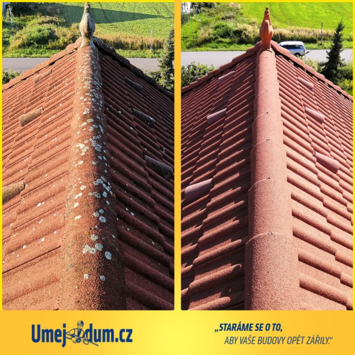 tlakové mytí střechy