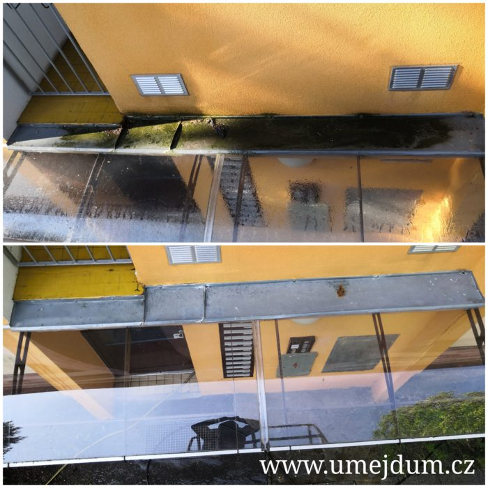 mytí plísnivé fasády