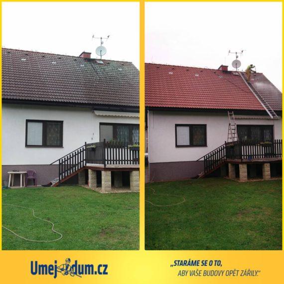 tlakové čištění střechy